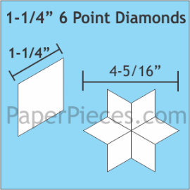 1-1/4 6 Point Diamond