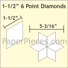 1-1/2 6 Point Diamond