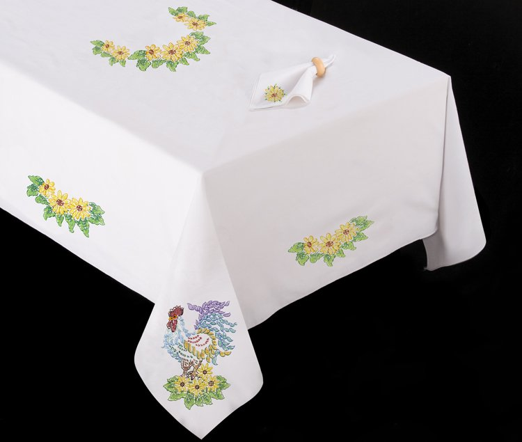 T201488 104 Rooster Tablecloth 021465148816