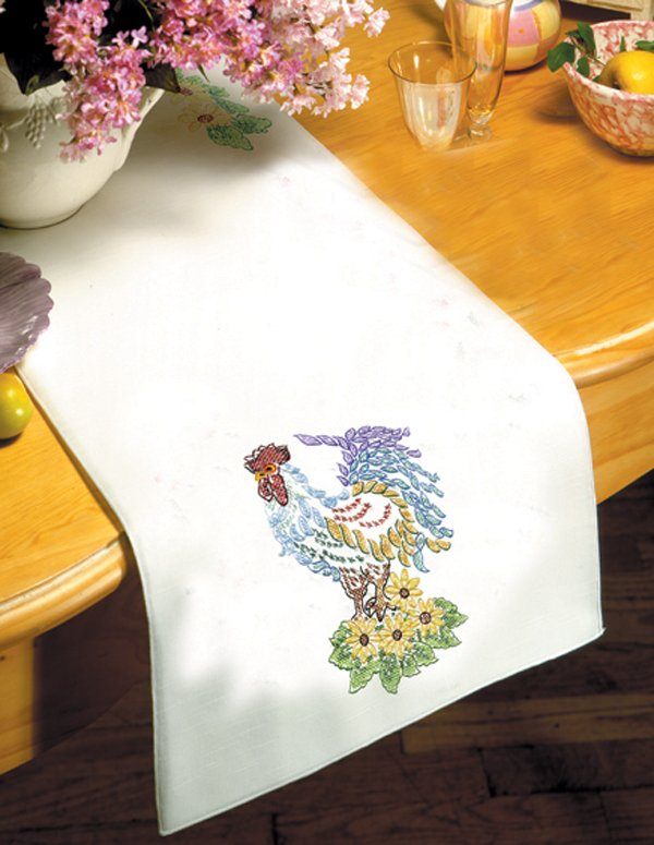 # T201488 44RN Rooster Table Runner