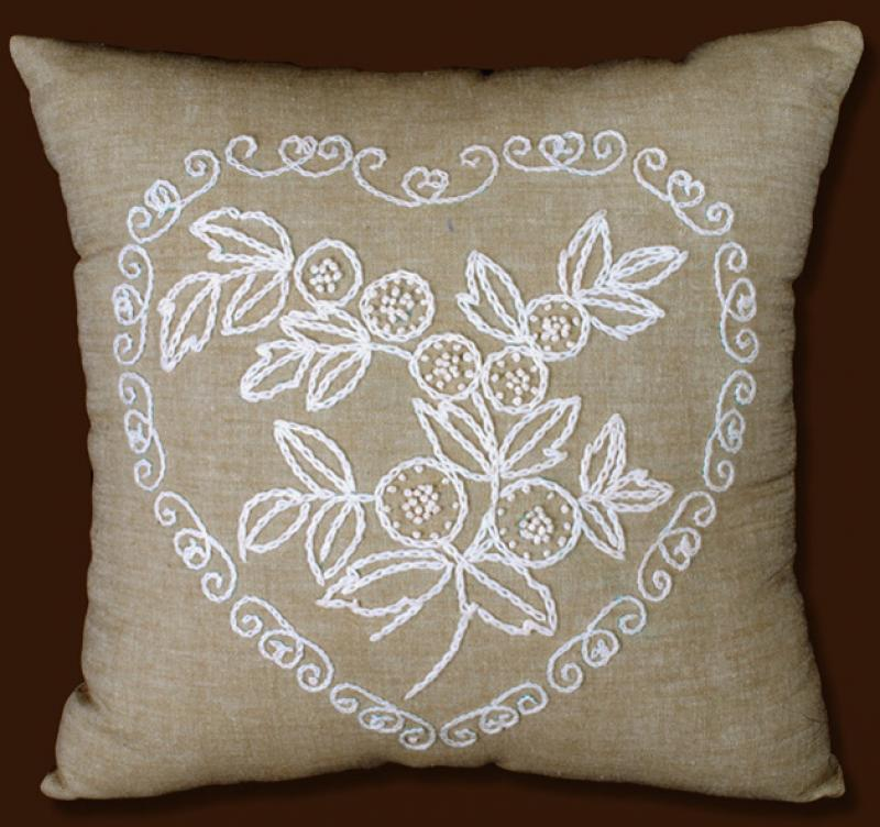 Stamped pictures and candlewick pillows
