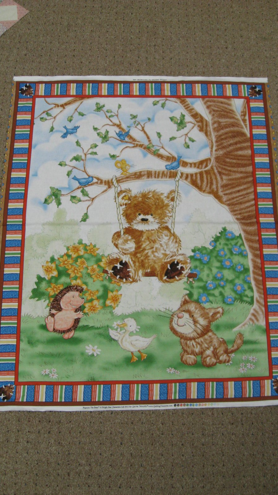 A beary fun day panel quilting treasures for Children s fabric panels