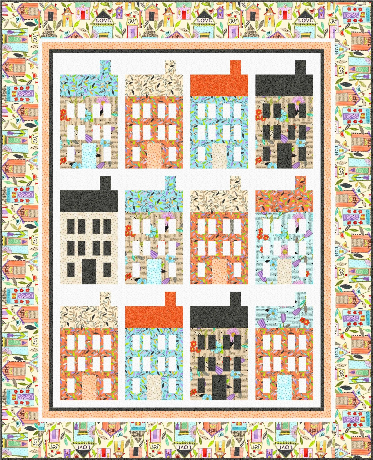 Home Treasures Quilting Patterns : Happy Home -- FREE Pattern