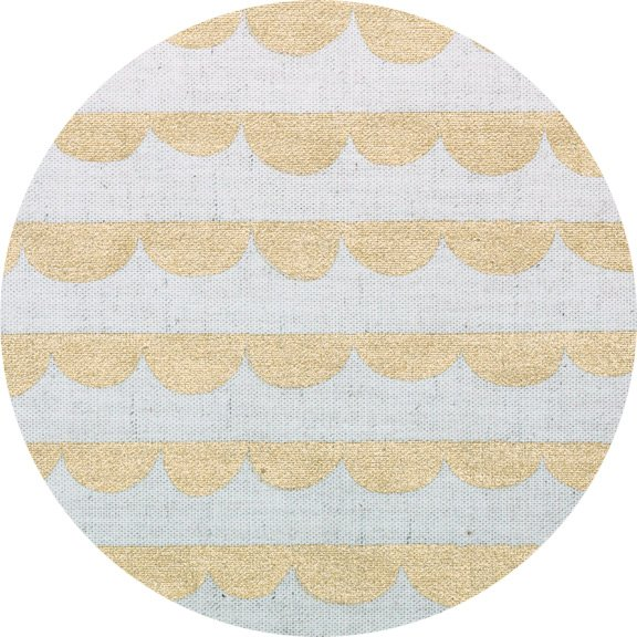 Charms Canvas  - Half Round in Metallic Gold