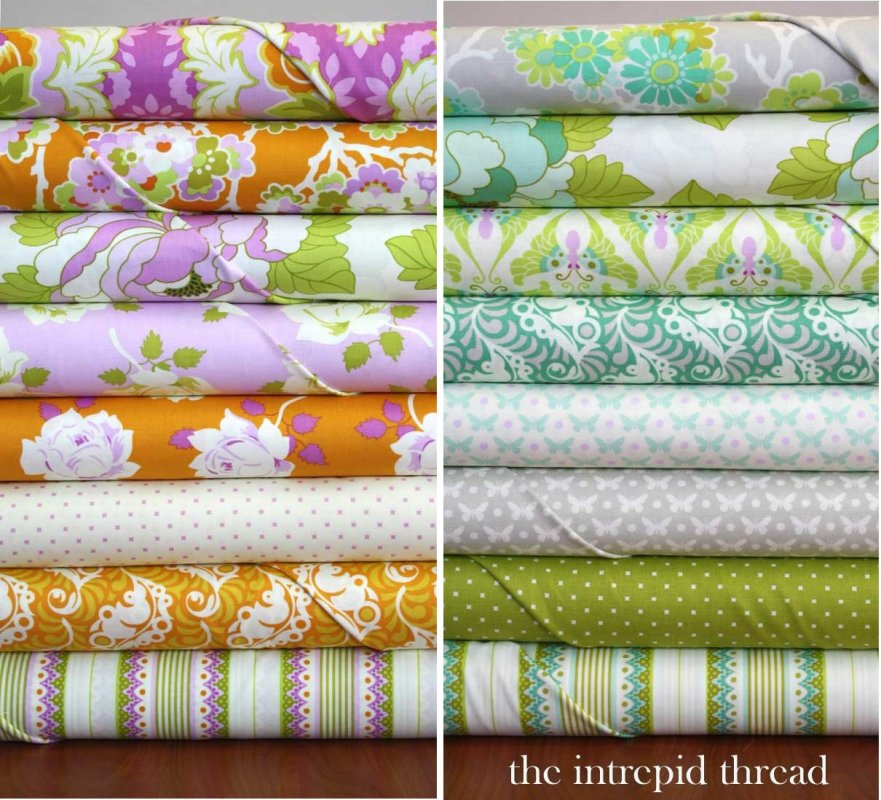 Lottie Da - Fat Quarter Bundle in Tangerine and Dove