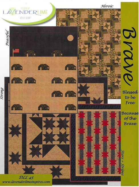 Peaceful quilt kit --from a pattern named BRAVE