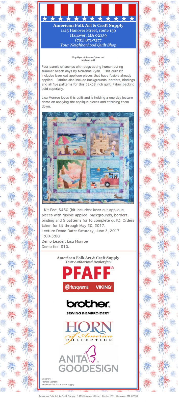 Quilting Sewing And Rug Braiding Classes West Hanover Ma