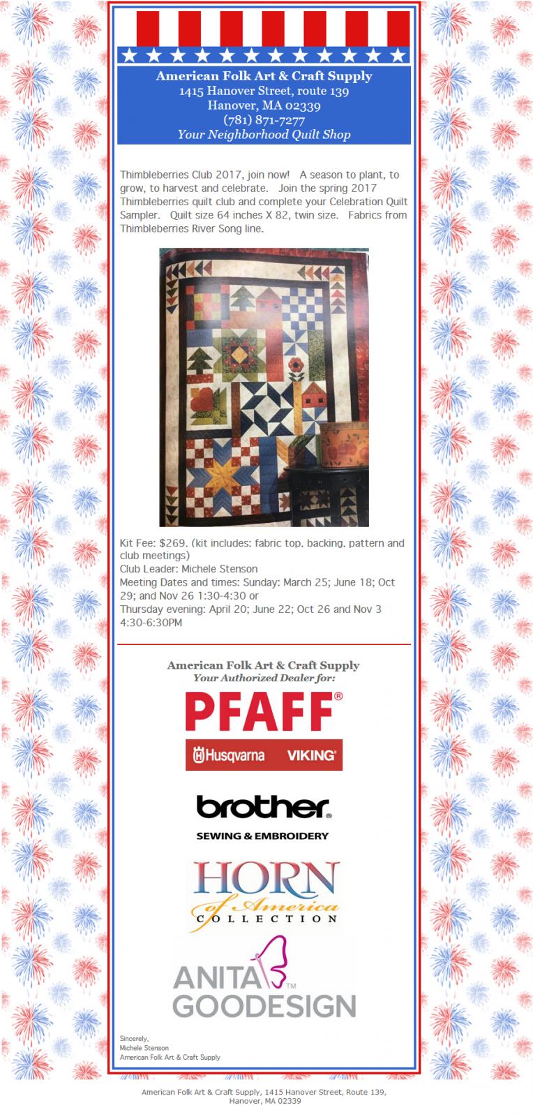 American Folk Art Craft Supply Hanover