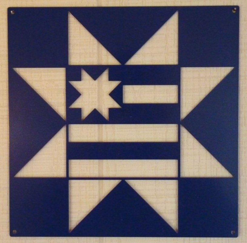 Navy Americana Star by Classic Metal Company