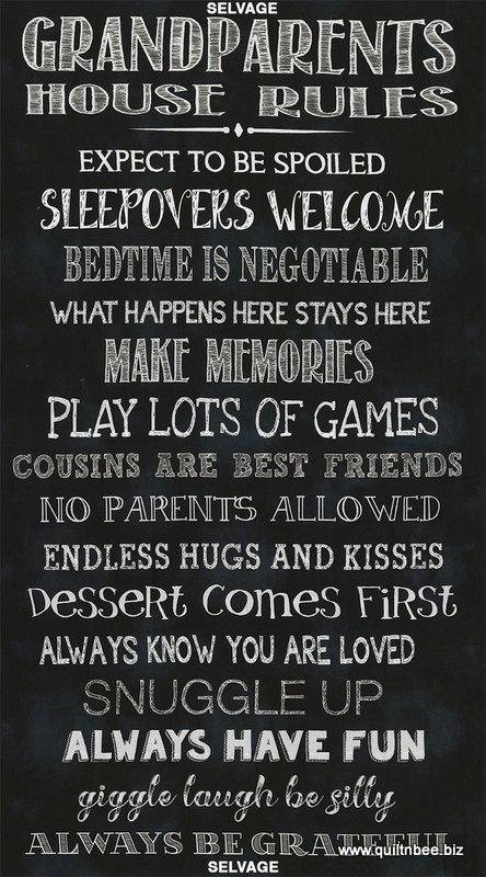 Grandparents Rules 24 x 44