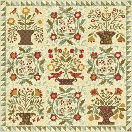 Gathered Harvest Quilt Kit by Blackbird Designs