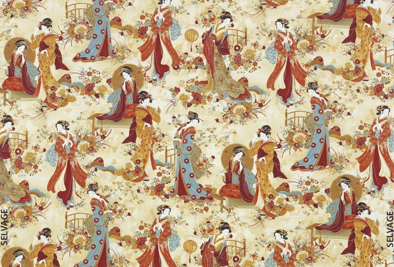 Asian Inspired Fabric 24