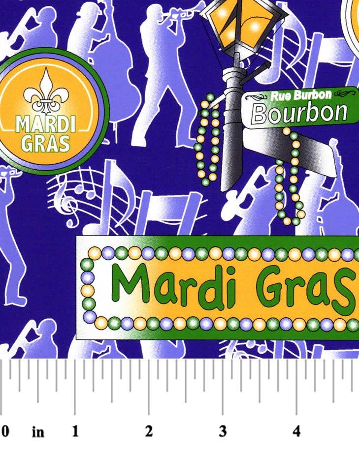 Mardi Gras Signs Cotton Fabric 7045810671