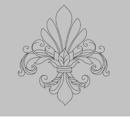 Fleur de Lis Machine Embroidery Design
