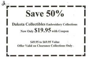 Save 50% on Dkota Collectibles