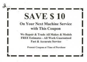 Save $10 on Machine Service