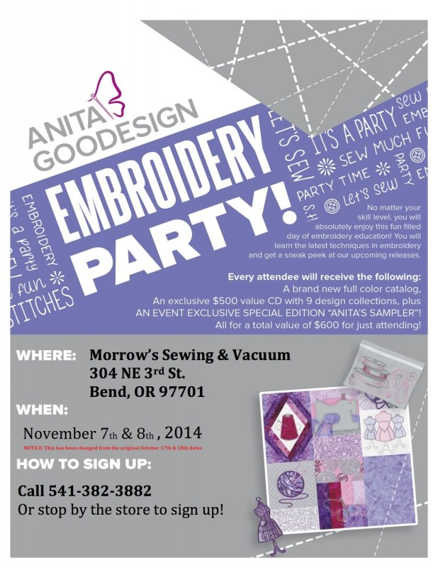 Fall Event Unveiled Anita Goodesign Embroidery Party
