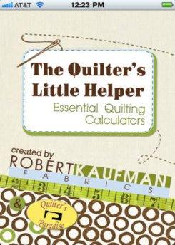 Robert Kaufman quilter's little helper app