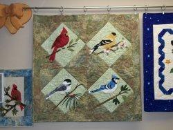 zebra patterns bird quilt