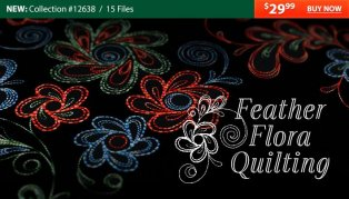 OESD Flora Feathers quilting designs