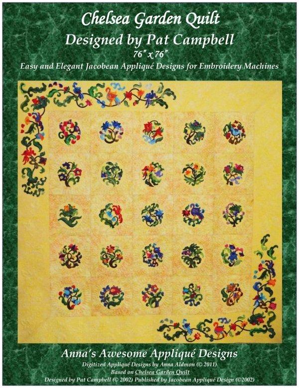 Chelsea Garden Machine Embroidery Pattern CD