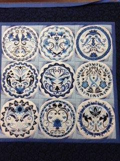 Anita Good Blue Porclien quilt