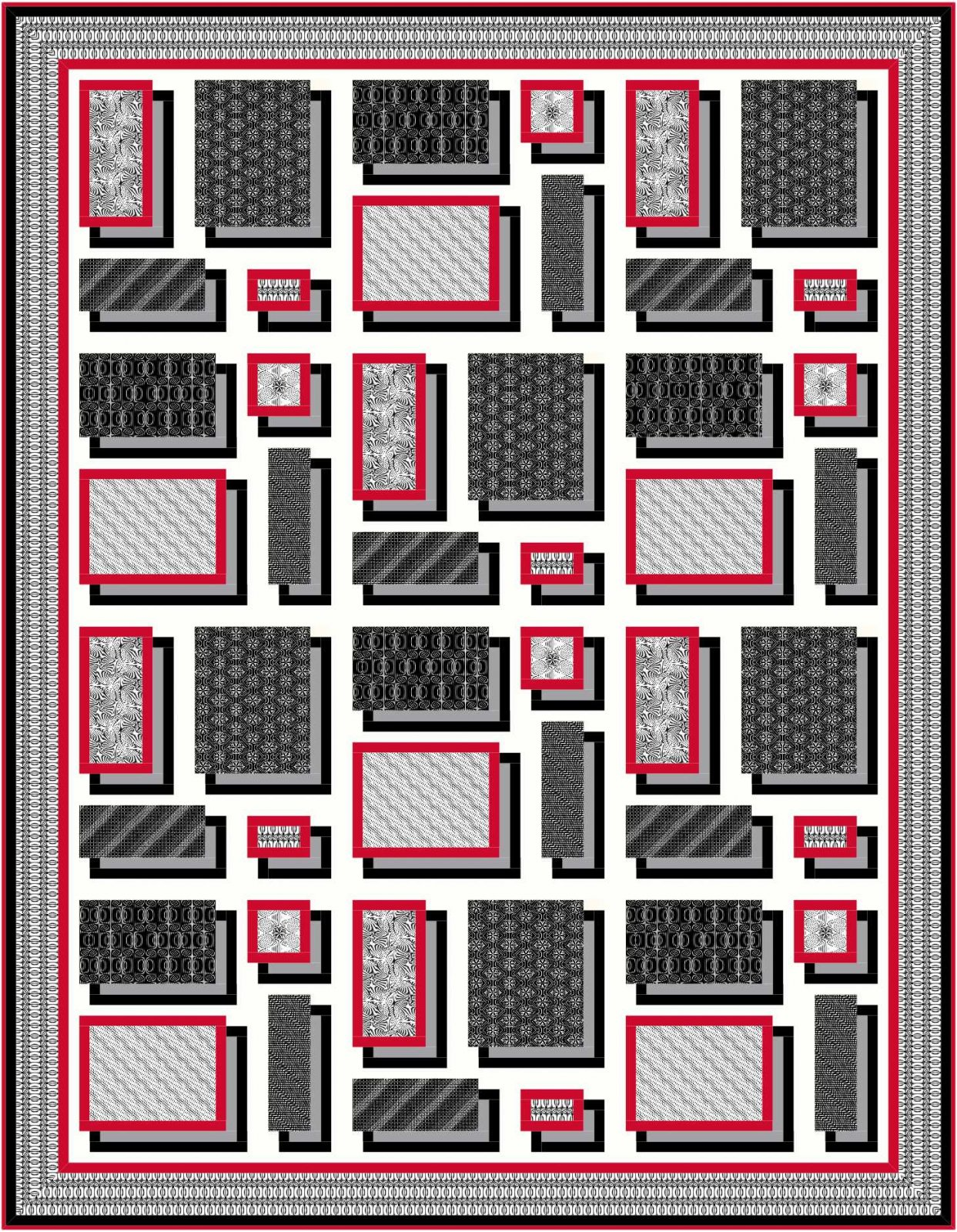 Floating Frames quilt pattern - downloadable