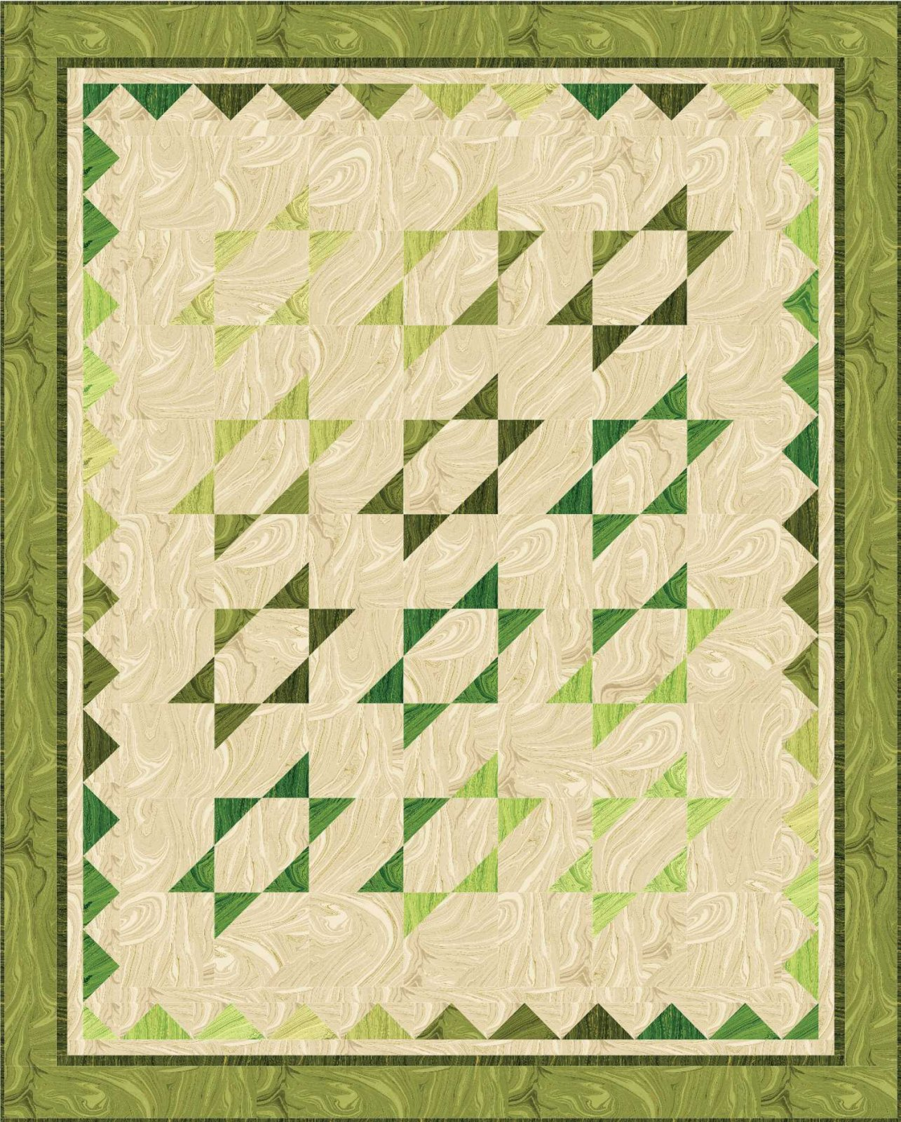 Gradating Stars quilt pattern - downloadable