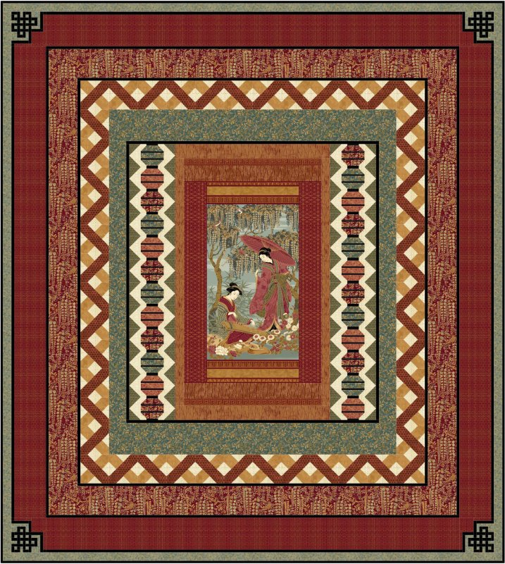 Oriental Garden Quilt pattern