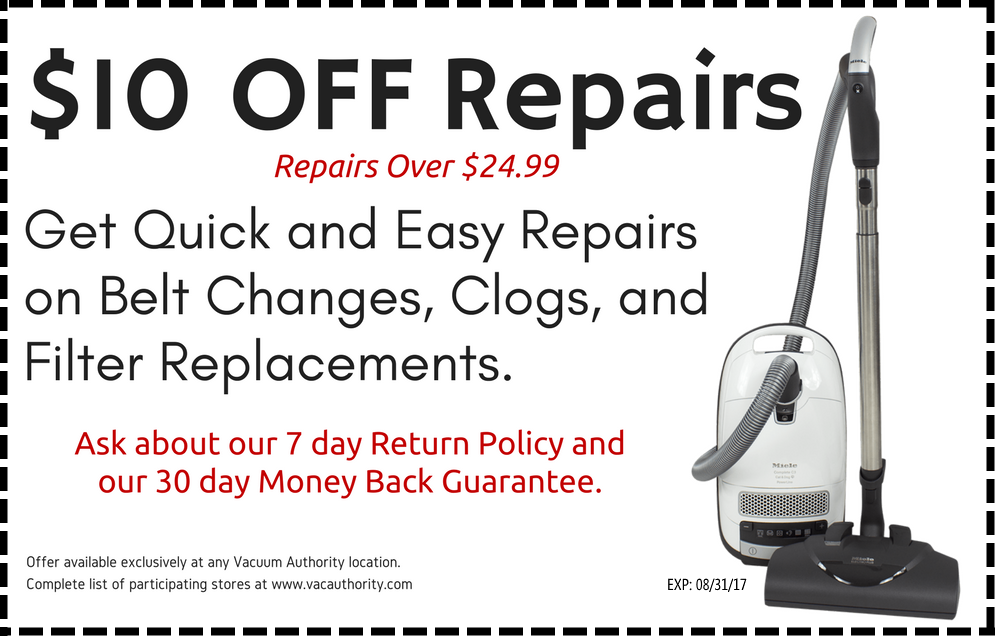 $10 Off Vacuum Authority Repairs