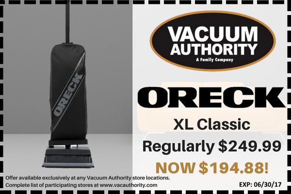 Oreck XL Classic Regular and Sale Price