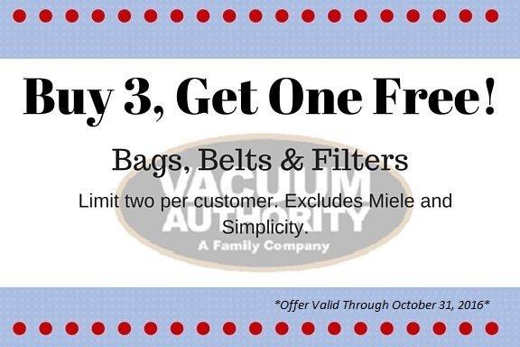 Buy 3 Get 1 Free on Vacuum Cleaner Bags