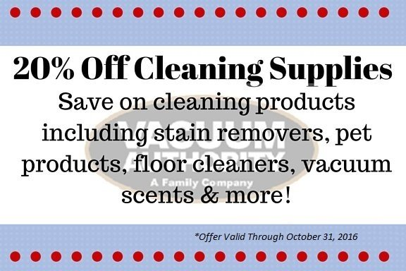 Save on Home Cleaning Supplies at Vacuum Authority Stores