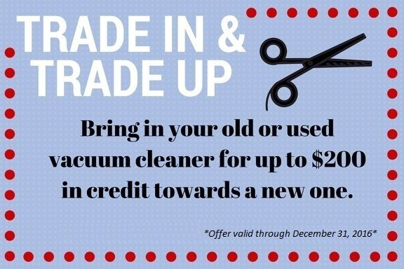 Trade in your old vacuum cleaner and get up to $200 credit towards a new one