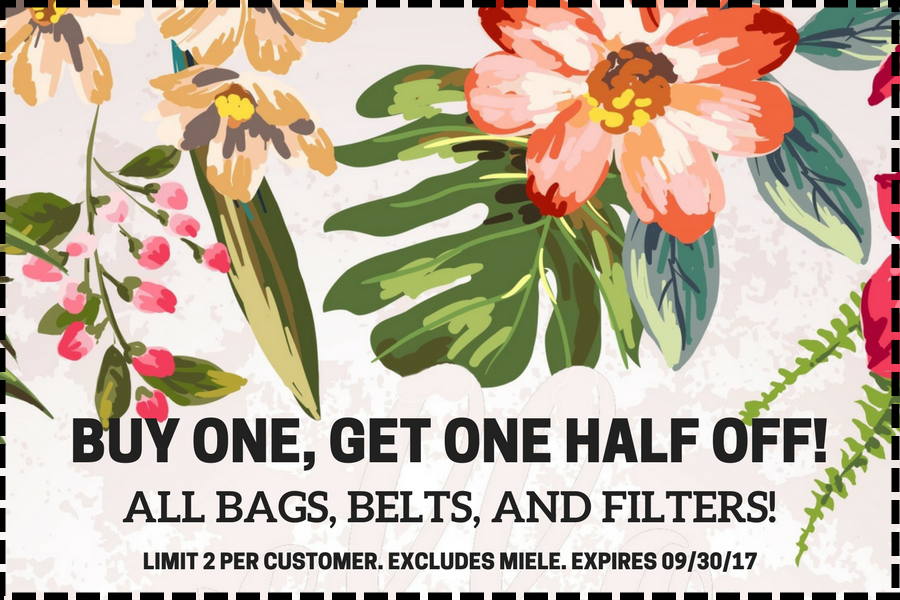 BOGO On Belts, Bags, and Filters