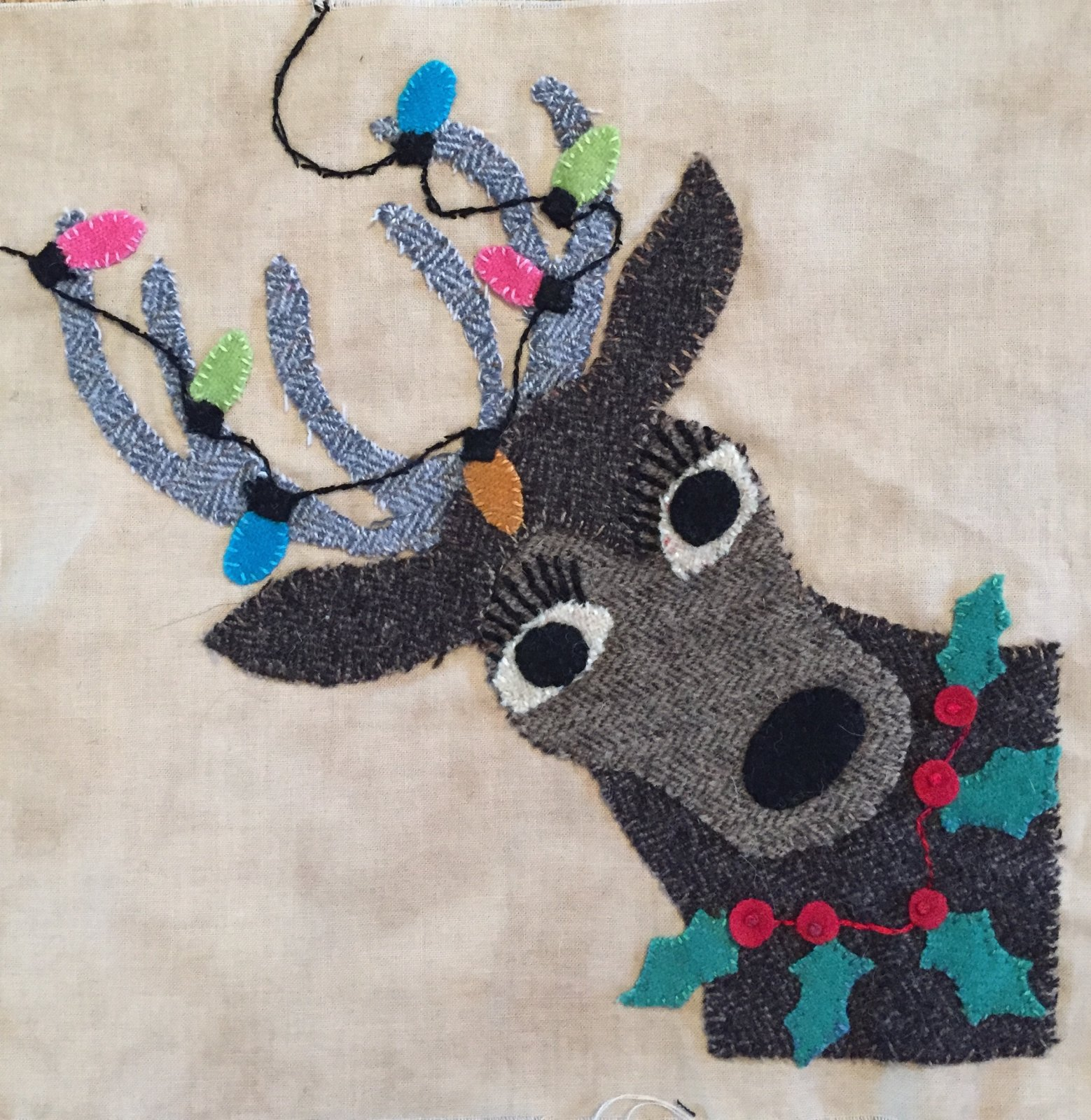 Christmas Party Reindeer Girl Block