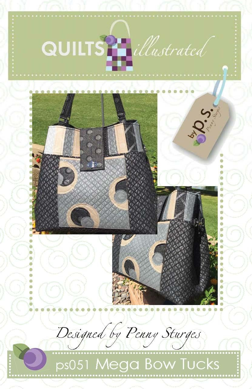 ps051 Mega Bow Tucks Tote