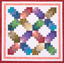 COTTON RAINBOW PATTERN FROM COZY QUILTS