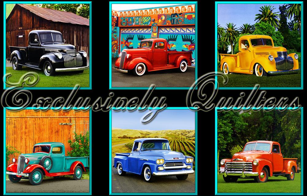 Vintage Pickup Trucks Panel