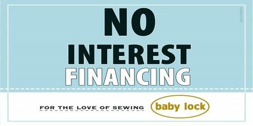 0% financing  No interest financing program