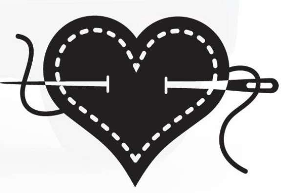 I Heart Sewing Window Decal 101