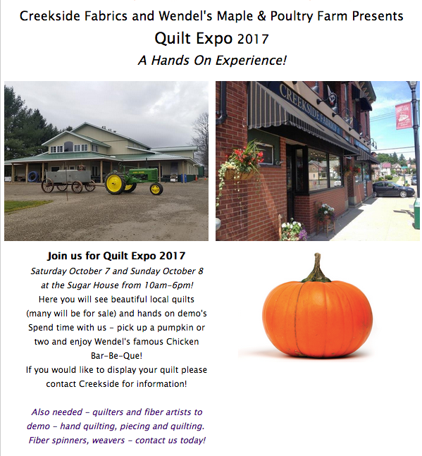 Quilt Expo 2017 Wendels and Creekside Fabrics NY