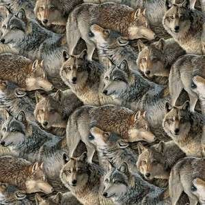 Wolves Fabric 843747088067