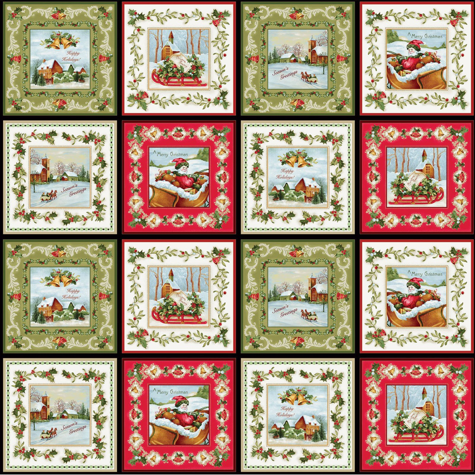 christmas bells from red rooster fabrics