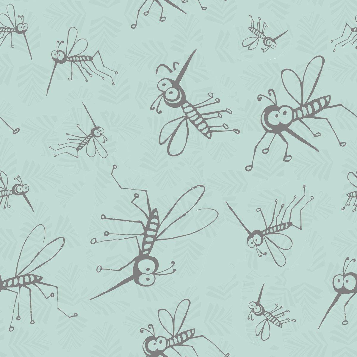 Quilt Mn 2016 Y1993 32 Light Aqua Mosquitos