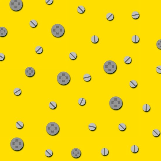 Lets Build! Construction Dots-yellow