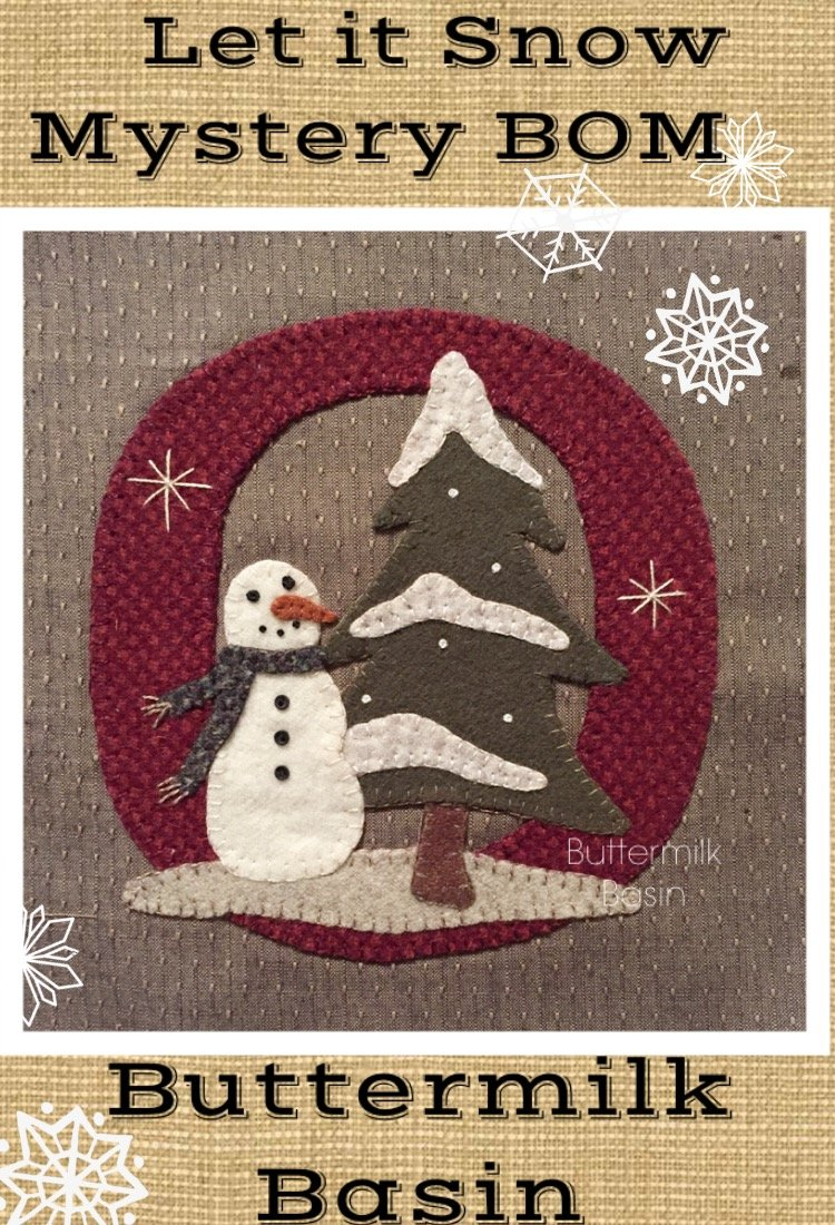 Let it Snow Mystery BOM * Block 9 (O) Pattern & Kit