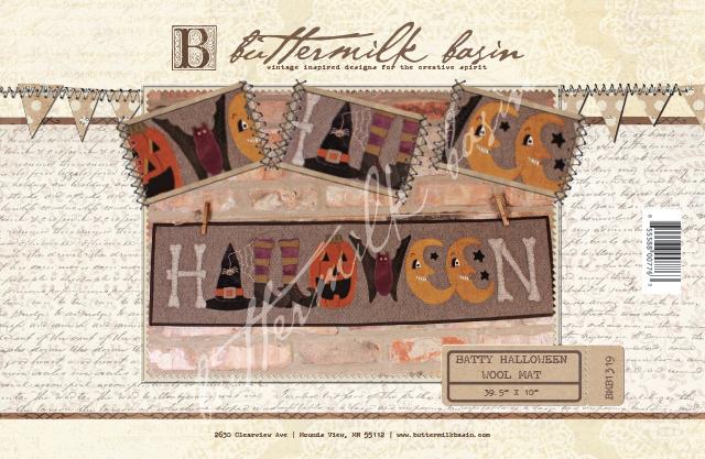 Batty Halloween Wool Mat * Pattern