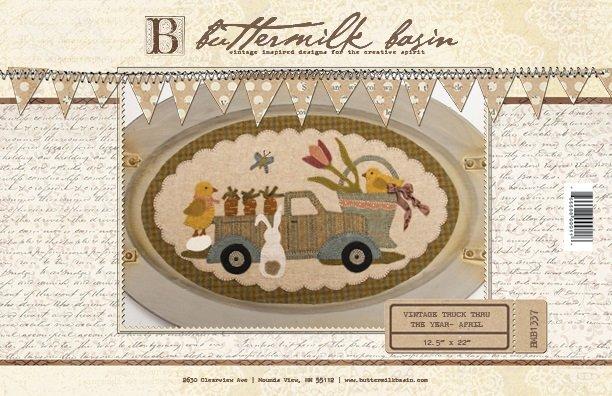 Vintage Trucks thru the Year * April Pattern