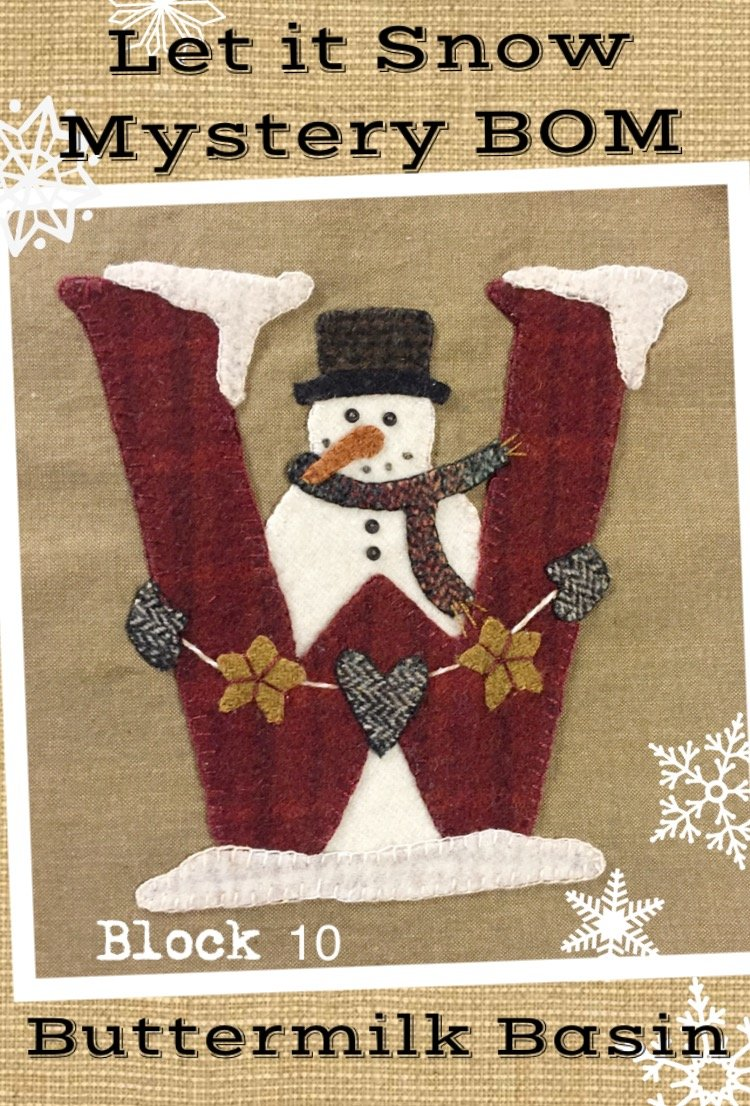 Let it Snow Mystery BOM * Block 10 (W) Pattern & Kit